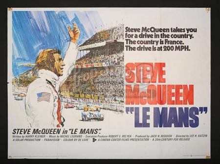 LE MANS (1971) - UK Quad Poster (1971)