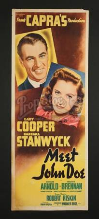 MEET JOHN DOE (1941) - US Insert Poster (c' early 1940's)