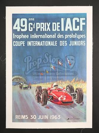 49eme GRAND PRIX DE L'A.C.F. REIMS (1963) - 49eme Grand Prix De L'A.C.F. Reims French Poster (1963)