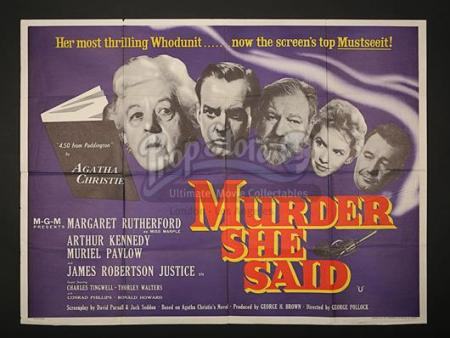 MURDER SHE SAID (1961) - UK Quad Poster (1961)