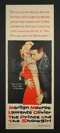THE PRINCE AND THE SHOWGIRL (1957) - US Insert Poster (1957)
