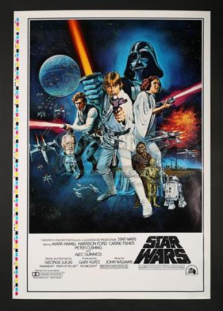 "STAR WARS: A NEW HOPE (1977) - US 1-Sheet Style-C ""Printers Proof"" Poster (1977)"