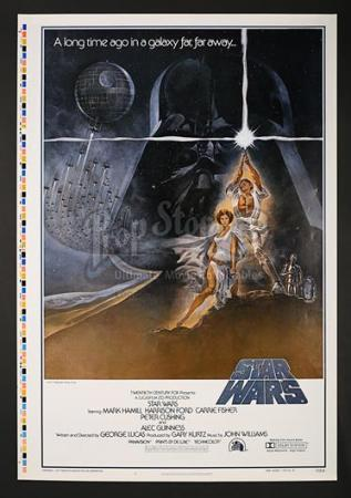 "STAR WARS: A NEW HOPE (1977) - US 1-Sheet Style-A ""Printers Proof"" Poster (1977)"