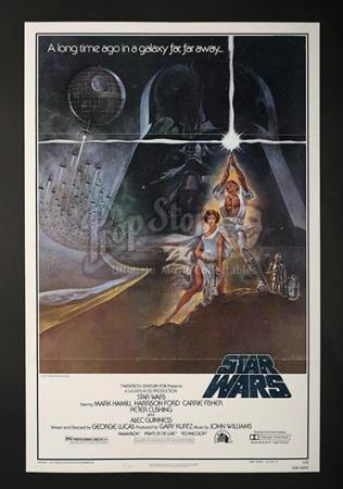 STAR WARS: A NEW HOPE (1977) - US 1-Sheet Style-A Poster (1977)