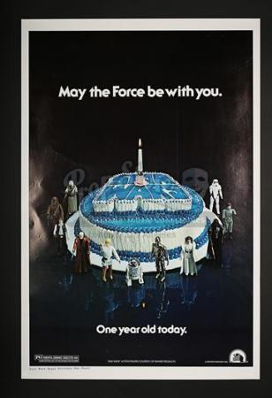 "STAR WARS: A NEW HOPE (1977) - 1-Sheet ""Birthday"" Poster (1978)"