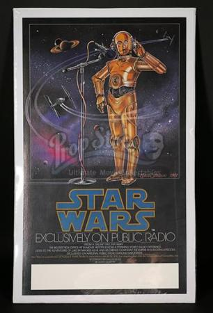 STAR WARS: A NEW HOPE (1977) - US National Public Radio Poster (1981)