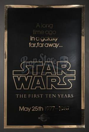 "STAR WARS: A NEW HOPE (1977) - US 1-Sheet ""Gold Anniversary"" Poster (1987)"