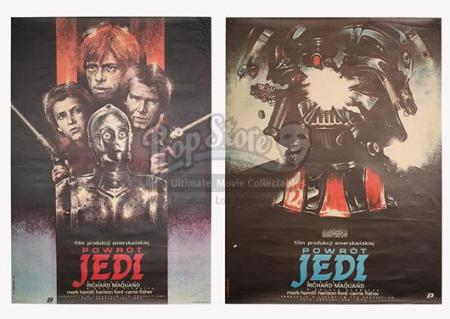 STAR WARS: RETURN OF THE JEDI (1983) - Two Polish Posters (1984)