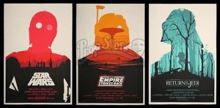STAR WARS TRILOGY (1977-83) - Three Olly Moss Posters (2010)