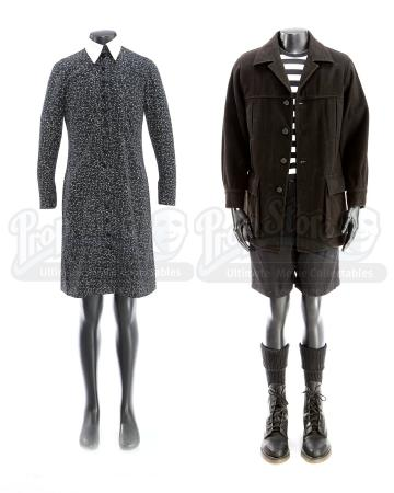 THE ADDAMS FAMILY (1991); ADDAM'S FAMILY VALUES (1993) - Wednesday Addams (Christina Ricci) and Pugsly Addams' (Jimmy Workman) Signature Costumes