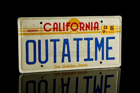 "BACK TO THE FUTURE (1985) - ""OUTATIME"" DeLorean Licence Plate"