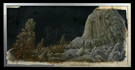CLOSE ENCOUNTERS OF THE THIRD KIND (1977) - Matthew Yuricich Matte Painting - Devil's Tower Landscape