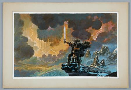CONAN THE BARBARIAN (1982) - Ron Cobb Hand-Painted 'The Enigma of Steel' Artwork