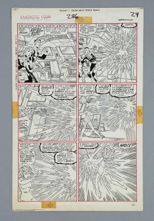 FANTASTIC FOUR #286 (1986) - John Byrne and Terry Austin Hand-Drawn Unpublished Page 24 Artwork