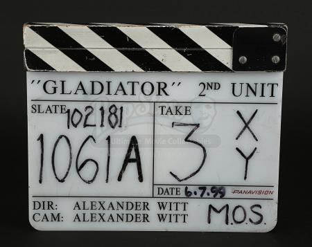 GLADIATOR (2000) - 2nd Unit Clapperboard