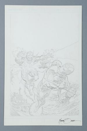 IRON MAN SUPER THRILLER: STEEL TERROR (1996) - Mike Zeck Hand-Drawn Pencil Cover Artwork