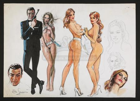 JAMES BOND: DR NO (1962) - Enzo Sciotti Signed Hand-Painted Concept Poster Art