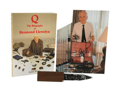 JAMES BOND: FROM RUSSIA WITH LOVE (1963) - Q's (Desmond Llewelyn) Touring Briefcase Gadget Knife, Autographed Photo and Book