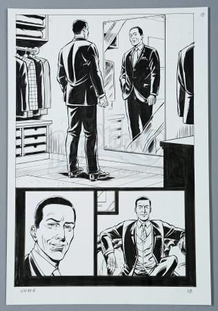 KINGSMAN: THE SECRET SERVICE #4 (2012) - Dave Gibbons Hand-Drawn Page 18 Artwork & Graphic Novel Back Cover Art