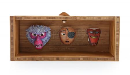 KUBO AND THE TWO STRINGS (2016) - Kubo, Monkey, and Beetle Stop-Motion Puppet Faces Gift