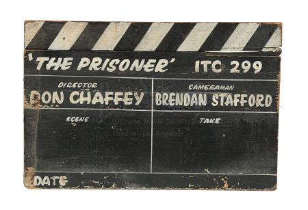 THE PRISONER (TV 1967-1968) - Production-Used Clapperboard