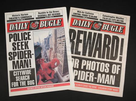 SPIDER-MAN (2002) - Pair of Daily Bugle Newspaper Covers