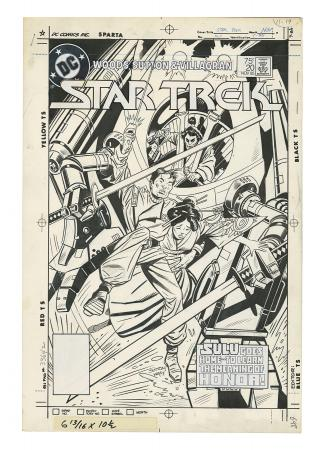 STAR TREK #20 (1985) - Tom Sutton and Ricardo Villagran Hand-Drawn Cover Artwork