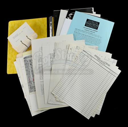 STAR WARS: A NEW HOPE (1977) - ILM Production Documents and Rolodex Cards