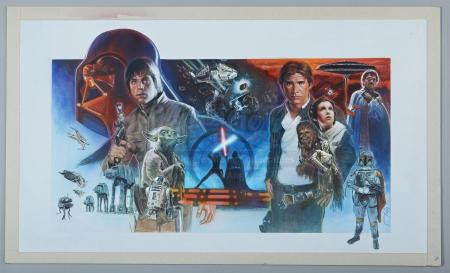 STAR WARS: THE EMPIRE STRIKES BACK (1980) - Jason Palmer Hand-Painted 25th Anniversary Celebration III Artwork