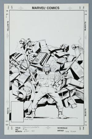 TRANSFORMERS #26 (1987) - Herb Trimpe Hand-Drawn Cover Artwork