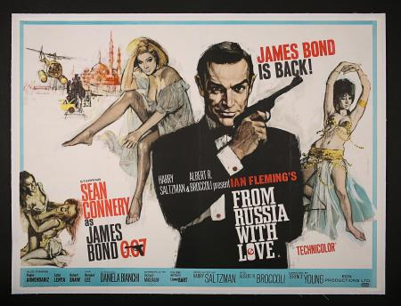 JAMES BOND: FROM RUSSIA WITH LOVE (1963) - UK Quad Poster
