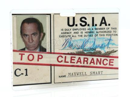 GET SMART, AGAIN! (1989) - Maxwell Smart's (Don Adams) United States Intelligence Agency ID Badge