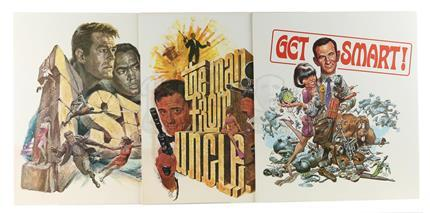 GET SMART (1965 - 1970) / I SPY (1965 - 1968) / THE MAN FROM U.N.C.L.E (1964 - 1968) - Three NBC 1960s Promotional Posters