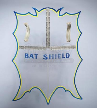 BATMAN (1966 - 1968) - Batman (Adam West) and Robin's (Burt Ward) Hero Bat Shield
