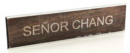 "Lot # 12 - S1E24 - ""English as a Second Language"": Ben Chang's (as portrayed by Ken Jeong) Name Plaque"